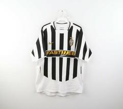 Vintage Nike Mens Medium Juventus FC Fastweb Striped Soccer Jersey 2003/... - $59.35