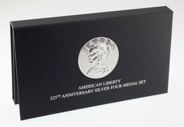 American Liberty 225th Anniversary Silver Four-Medal Set w/ Box and CoA image 4