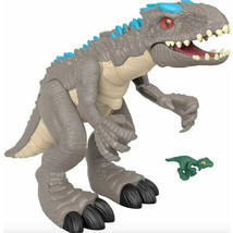 Fisher Price Imaginext Jurassic World Dinosaur Thrashing Indominous Rex - $56.07