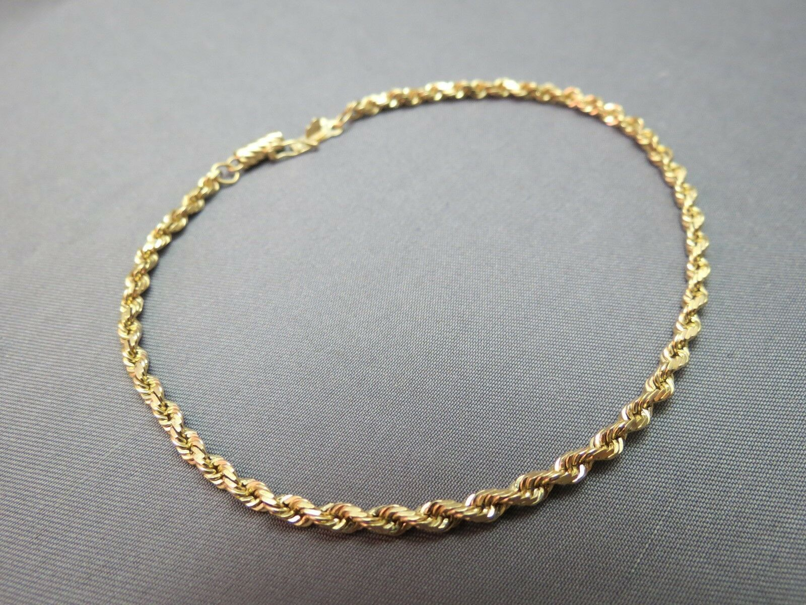 """14k Yellow Gold Bracelet Rope Chain 5.48g Michael Anthony MA 2.5mm Wide 8.5"""""""