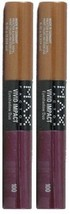 Max Factor Vivid Impact Eyeshadow Duo 100 Brassy Berry By Maxfactor (Pack Of 2 T - $19.59