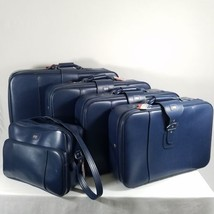 American Tourister 5 Piece Luggage Set Blue Vintage Soft Side Suitcase T... - $134.95