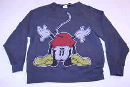 Youth Girls Disney Mickey Mouse S Grey Sweatshirt Crew - $14.01
