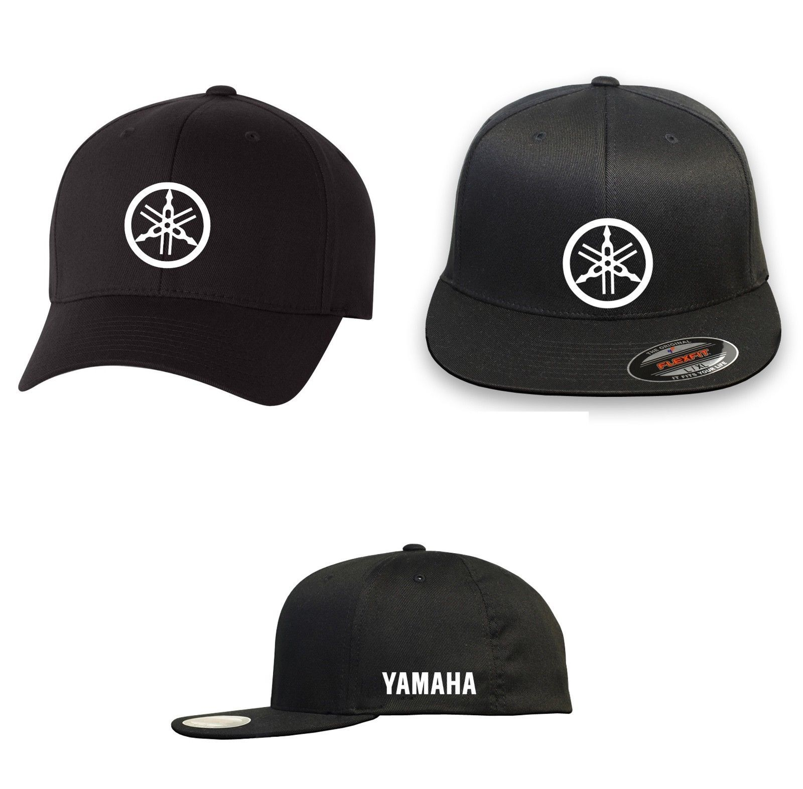 Primary image for MOTORCYCLE RIDING YAMAHA  FLEXFIT HAT *FREE SHIPPING in BOX*
