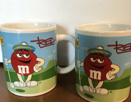 M&M's Coffee Mug M&M Featuring Red Blue 2 Cups - $12.99