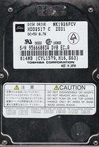 MK1926FCV, HDD2517 C ZE01, Toshiba 814MB IDE 2.5 Hard Drive