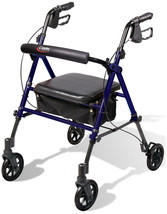 Medical Rollator Walker with Padded Seat 6' Wheels Backrest and Storage ... - $58.41
