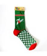 NWT New Cool Socks 7UP 7 Up Soda Soft Drink Green Red Polka Dots 6-13 - $15.99