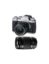 FUJIFILM X-T3 sliver with XF 18-55mm Lens black and XF 55-200mm Lens black - $2,330.96