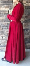 Victorian House Coat In Red Corduroy - $120.00