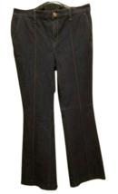 Platinum Collection Chicos Size 1 US Size 8 Dark Blue Trouser Pants Jeans - $13.99