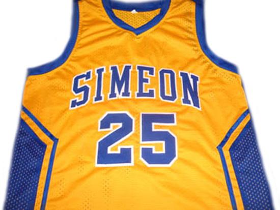 f19cc11966a6 Derrick Rose  25 Simeon High School New Men Basketball Jersey Yellow ...