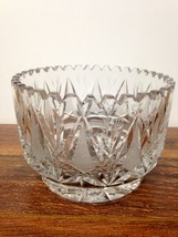 Gorgeous Vintage Cut Lead Crystal Bowl Very Heavy STUNNING - $24.95