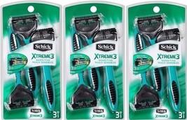 schick xtreme3 sensitive peaux sensibles 3 pack - $12.86