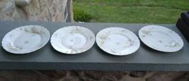 4 THEODORE HAVILAND LIMOGES salad plates Roses Schleiger Blank 126  France - $22.00