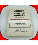 MerCruiser Stern Drive & Marine Service Manual Number 1 Book 2 Sections 6-9 - $17.77