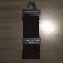 NWT $32.50 Tommy Hilfiger Black Solid 100% Cotton Pocket Square - $17.99