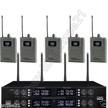 MICWL 400 Channel UHF Digital 8 Wireless Radio Lavalier Mic Microphone S... - $970.20