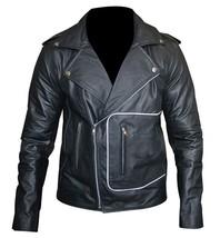 Grease 2 Fancy Dress John Travolta T Birds Black Biker Leather Jacket image 3