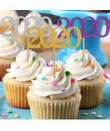 12pcs 2020 Cake Topper 2020 New Year Party Decoration Glittering - $8.00