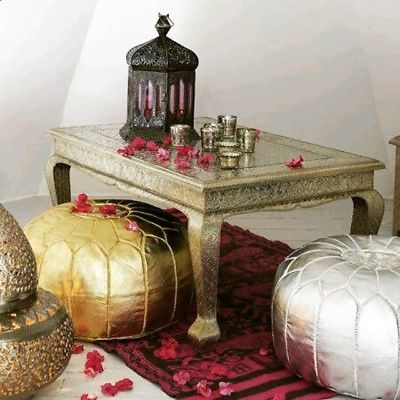 Surprising Gold Moroccan Pouf Ottoman Faux Leather Pouf And 50 Similar Theyellowbook Wood Chair Design Ideas Theyellowbookinfo