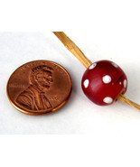 Venetian Trade Bead Cased Glass Bead Red And White Eye 1800s Dots Antiqu... - $12.00