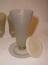 Tupperware glasses set parfait  six w/ bases lids  - $24.00