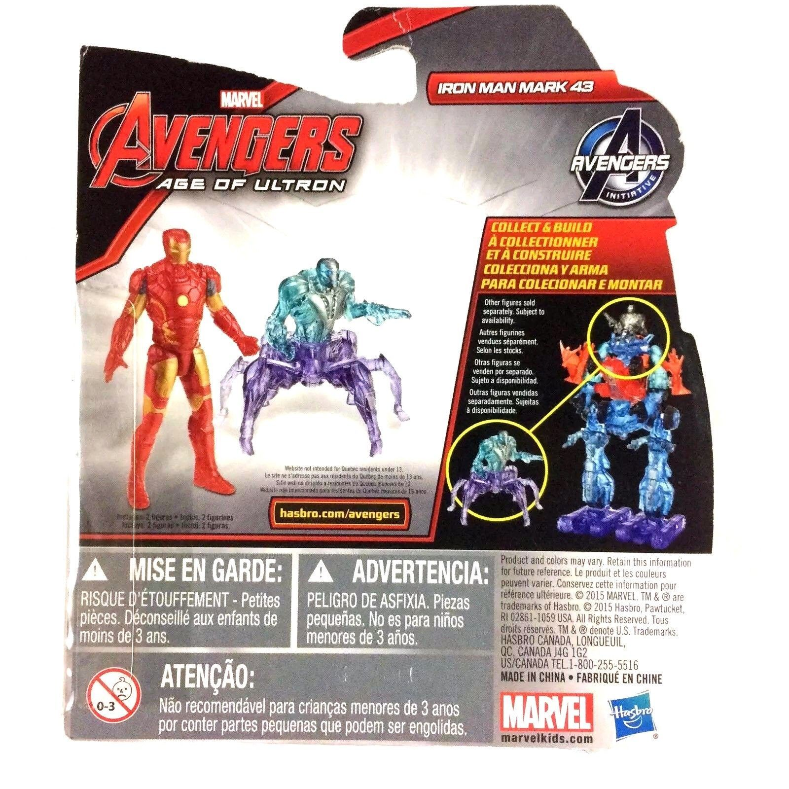 "Iron Man Avengers Age of Ultron 2.5"" Action Figure Marvel New 2015 Hasbro"