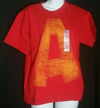 """Alvin Chipmunks """"A"""" T-Shirt Hot Topic XS Extra Small Red Costume NWT - $12.86"""