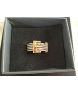 Affinity Sterling Silver Cubic Zirconia Buckle Band Ring 925 Sz: 8 - $37.93