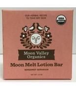 (New) Moon Valley Organics Moon Melt Lotion Bar Bergamot Geranium - 1.9 oz - $16.82
