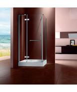 Tempered Glass Shower Enclosure Corner Shower Doors Shwoer Units 47.24*3... - $1,057.37