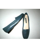 New Womens Enzo Angiolini Flats Leather 10 N Narrow 10 M Dark Blue Shoes Loafer - $39.60