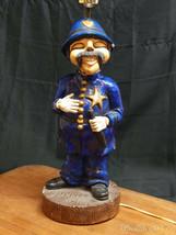 Vintage 1976 Ceramic LAPD Policeman Bobby Lamp  Movie Prop Bar Light Man... - $62.32