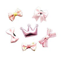 Set of 6 Stylish Little Girls Small Snap Clips Hair Accessories Hair Barrettes