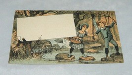 Victorian Advertising Home Furniture Company Boston Trade Business Card ... - $10.69