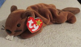 Ty Beanie Baby Bucky the Beaver 4th Generation Tag PVC Filled 1995 - $9.89
