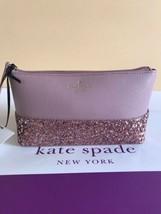 Kate Spade Authentic DUSTY PEONY Little shiloh greta court Glitter Trave... - $36.99