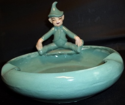 "Cute Vintage 6"" Pixie Elf Ashtray - $10.00"