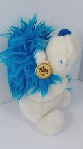 Plush Russ Dandy Blue white lion plush plastic eyes  hang tag - $19.79
