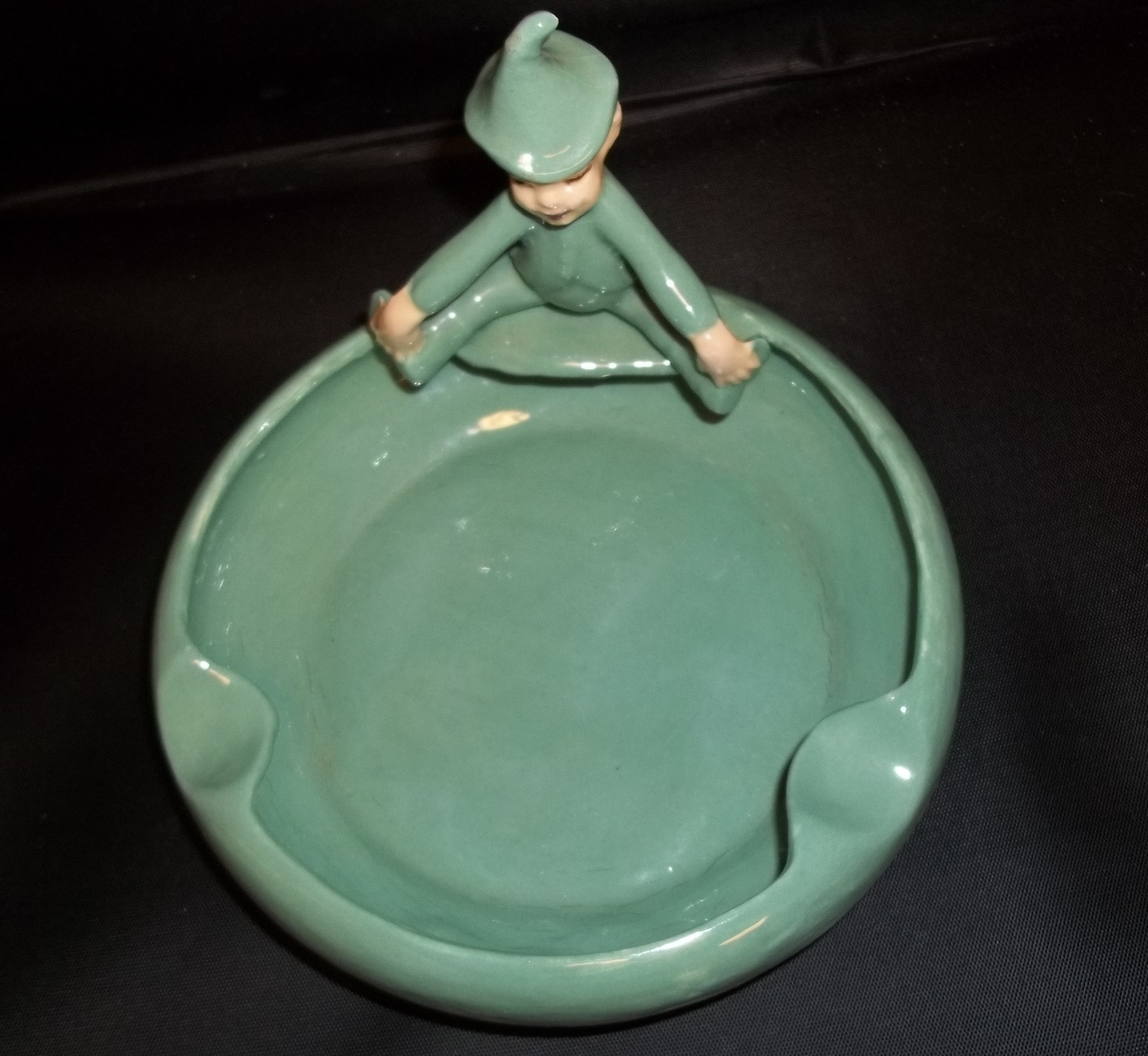 "Cute Vintage 6"" Pixie Elf Ashtray"