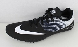 Nike Uomo Zoom Rivale Pista con Borchie Bianco Nero Racing Sprint Taglia 13 - $27.98