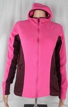 Columbia women's fleece jacket full zip long sleeve hoodie pink burgundy size M - $21.08