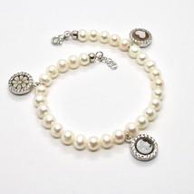Bracelet en Argent 925 avec Perles De D'Eau Douce Camée Zirconia Cubic image 2