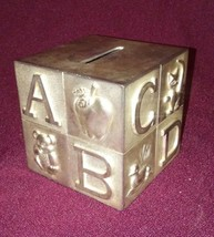 Silver Plated Alphabet Coin Bank - $15.84