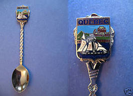 QUEBEC Souvenir Collector Spoon Collectible SAILBOAT Ship  - $5.95