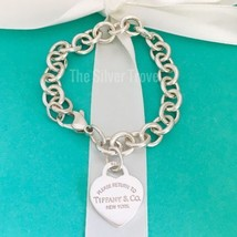Please Return to Tiffany & Co Sterling Silver Heart Tag Charm Bracelet - $199.00