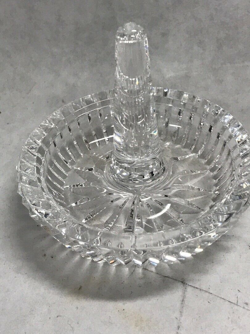 See Item Description Vintage Waterford Crystal Ring Holder Made in Ireland Older Hallmark FREE SHIPPING