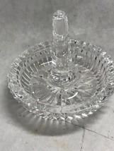 Waterford Cut Crystal Ireland  ring holder round Heritage Vintage - $49.10