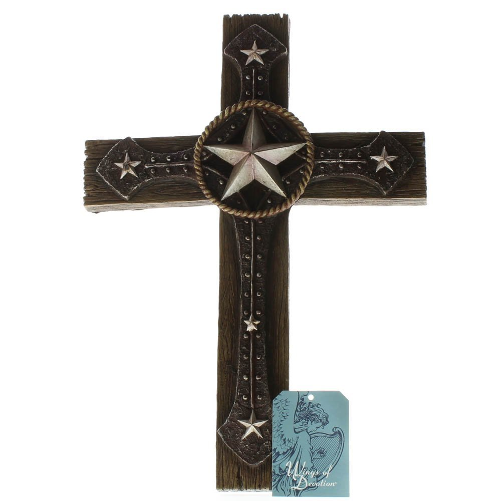 Cross Wall Decoration Polyresin Rustic Wall Crosses For